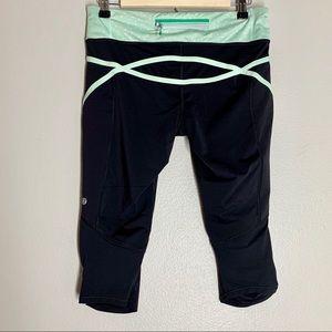 Lululemon Run Inspire cropped back zip leggings